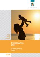 Publikācijas Demogrāfija, 2019 vāka attēls