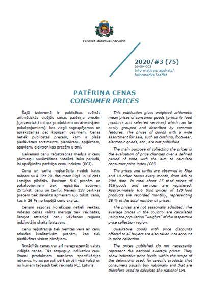 Informatīvā apskata pirmās lapas attēls