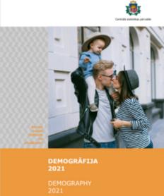 Statistisko datu krājuma vāka attēls ar sievieti, vīrieti un bērnu